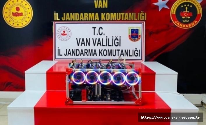 Van'da Kripto para üretim cihazı ele geçirildi!