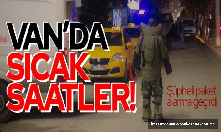 Van şehir merkezinde şüpheli paket alarmı