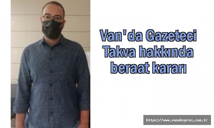 Gazeteci Takva beraat etti