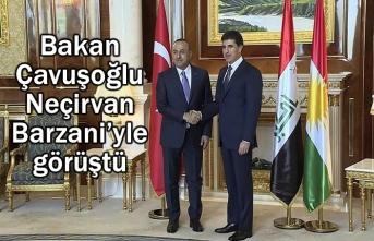 Bakan Çavuşoğlu Neçirvan Barzani'yle görüştü