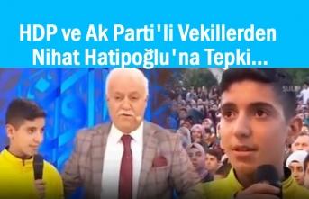 HDP ve Ak Parti'li Vekillerden Hatipoğlu'na Tepki
