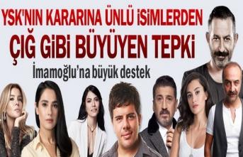 YSK'nın İstanbul kararına ünlü isimlerden tepki...