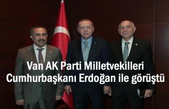Erdoğan Van AK Parti Milletvekilleriyle ile görüştü