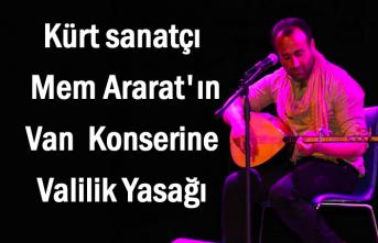 Kürt sanatçının Van konserine valilik yasağı