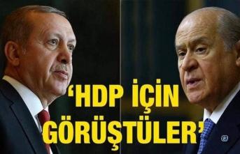 Erdoğan Bahçeli ile görüştü Gündem HDP mi?