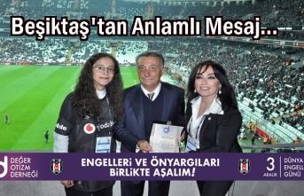 Beşiktaş Kayseri Maçında anlamlı mesaj!