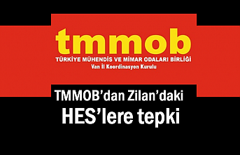 TMMOB Erciş Zilan'daki HES'lere tepki