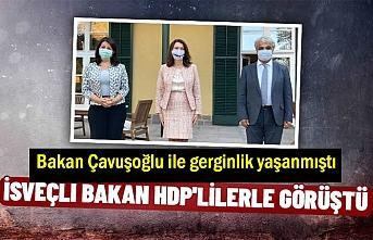 İsveç Dışişleri Bakanı HDP Eş Genel Başkanları ile görüştü