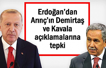 Erdoğan'dan Bülent Arınç'ın açıklamalarına tepki