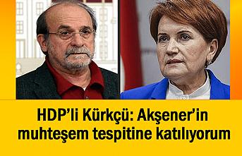 HDP Onursal Başkanı: Akşener'in muhteşem tespitine katılıyorum