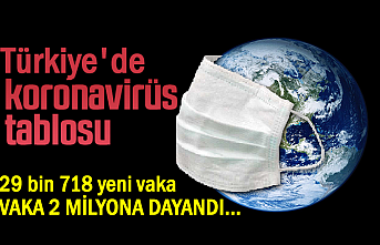 Türkiye'de Vaka Sayısı 2 Milyona Dayandı