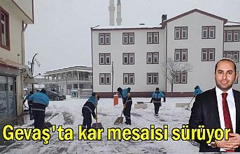Başkan Sezer Belediye Ekipleriyle Kar Mesaisinde