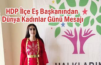 HDP İlçe Eş Başkanından Dünya Kadınlar Günü Mesajı