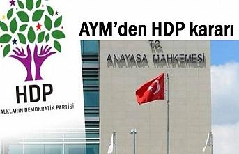 AYM'den HDP kararı