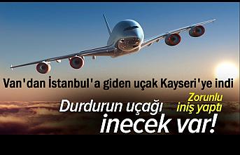 Van'dan İstanbul'a giden uçak Kayseri'ye acil iniş yaptı!
