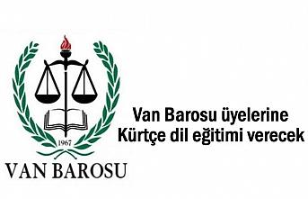 Van Barosu üyelerine Kürtçe dil eğitimi verecek