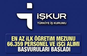 Türkiye İş Kurumu 66 bin personel ve işçi alımı yapılacak!