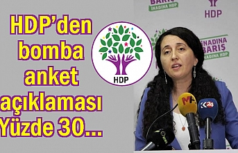 HDP'den bomba anket açıklaması!