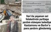 Van'dan Kastamonu ve Bartın'a ondört milyon TL Yardım