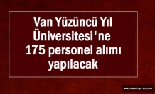 YYÜ Üniversite 175 personel alımı yapacak