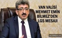 Vali Bilmez'den LGS Mesajı