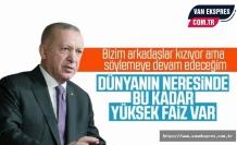 Erdoğan: Dünyanın Neresinde Bu Kadar Yüksek Faiz Var