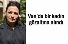 Van'da Eş Başkan'ın Eşi Karaman gözaltına alındı