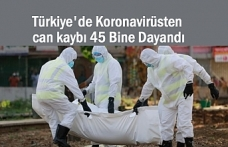 Türkiye'de Koronavirüsten can kaybı 45 bine dayandı