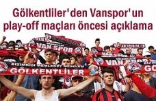 Vansporlu Gölkentliler'den Play-off açıklaması