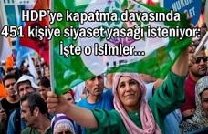 HDP kapatılırsa 451 kişiye siyaset yasağı gelecek
