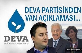 DEVA Partisinden Van Açıklaması