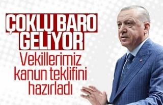 Erdoğan: Çoklu baro yönetiminde kararlı