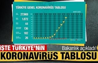 Türkiye'de koronavirüs tablosu 19 Haziran 2020