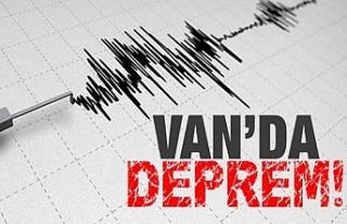Van 3.6 büyüklüğünde deprem ile sallandı
