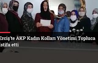 Erciş AKP Kadın Kollarında İstifa Depremi