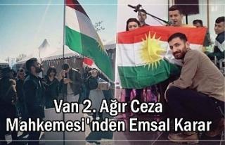 Mahkemeden 'Kürdistan bayrağı' için emsal...