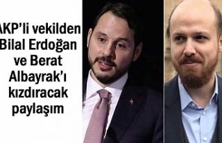 AKP'li vekilden Erdoğan ve Albayrak'ı kızdıracak...