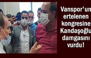 Vanspor kongresinde Kandaşoğlu damgası