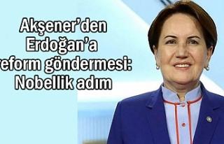 Akşener'den Erdoğan'a reform çıkışı Nobellik...