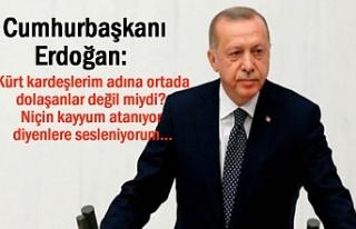 Erdoğan: Tüm Doğuya Sesleniyorum kayyum...