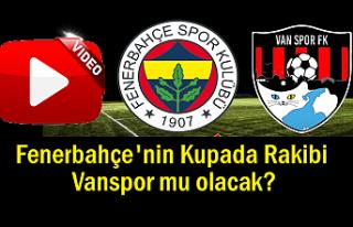 Vanspor Kupada Fenerbahçe'ye rakip mi olacak