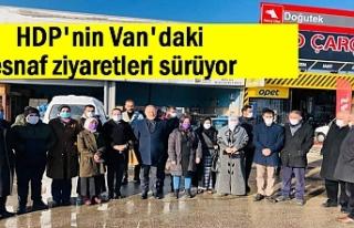 HDP Van Milletvekili Temelli, Van esnafını ziyaret...