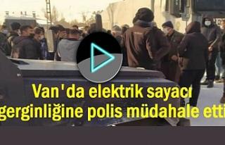 Van'da elektrik sayacı gerginliği