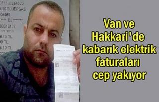 Van ve Hakkari'de kabarık elektrik faturaları...