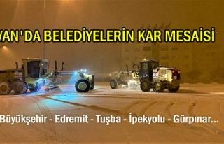 Van'da 3G ile birlikte Belediyelerin Kar Mesaisi...