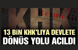 13 bin KHK'lıya görevlerine dönüş yolu açıldı