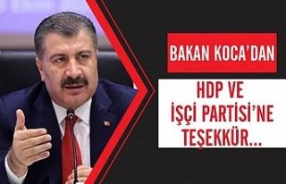 Bakan Koca'dan HDP'ye 'Sayın'sız...