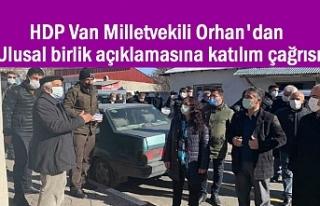 HDP'li Orhan'dan ulusal birlik açıklamasına...