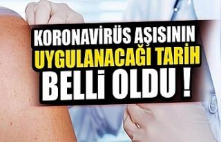 Türkiye'de Çin aşısının uygulanacağı...