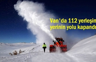 Van'da 112 yerleşim yerinin yolu kapandı